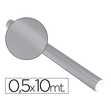 Papel metalizado Sadipal plata 65g/m2 50x10 cm