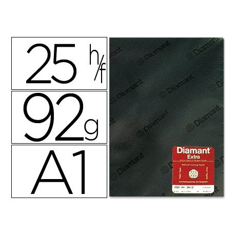 Papel vegetal Diamant A1 92g/m2 hoja