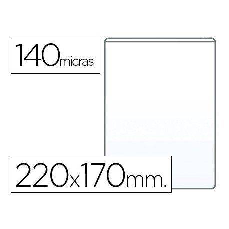 Funda portadocumento Q-connect cuarto 140 micras pvc transparente