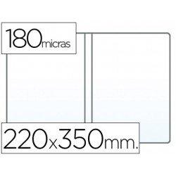Funda portadocumento cuarto doble 180 micras pvc transparente