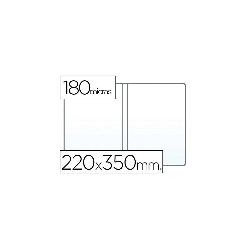 Funda portadocumento cuarto doble 180 micras pvc transparente (06386 ...