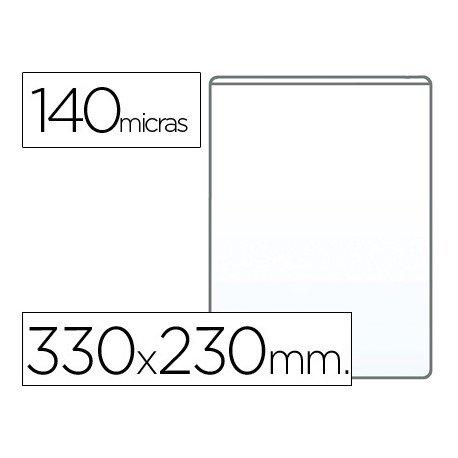 Funda portadocumento Q-connect folio 140 micras pvc transparene