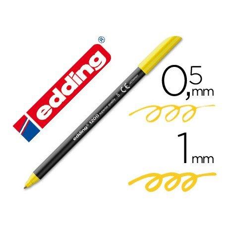 Rotulador Edding 1200 amarillo nº 5
