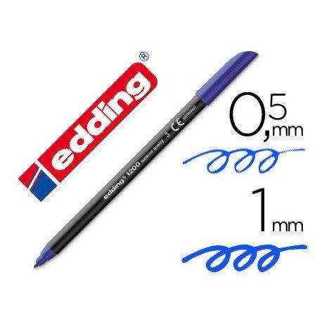 Rotulador Edding 1200 azul nº 3