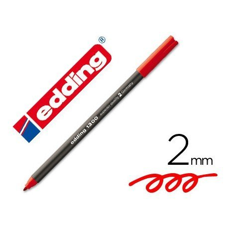 Rotulador Edding 1300 rojo