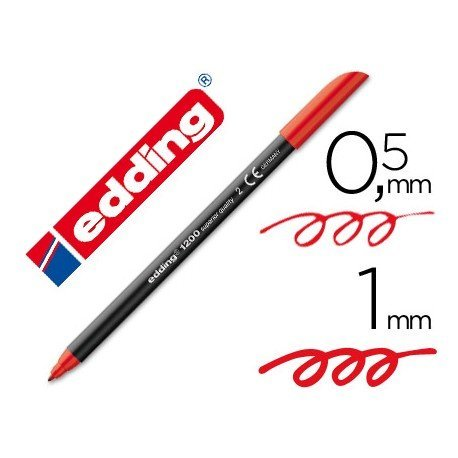 Rotulador Edding 1200 rojo nº 2
