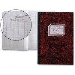 Miquelrius Libro Registro de facturas recibidas, cartone tamaño folio