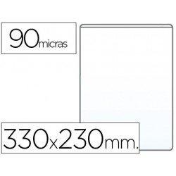 Funda portadocumento Q-Connect folio 90 micras pvc transparente