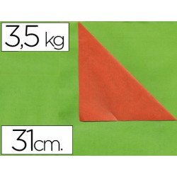 Papel fantasia verjurado Liderpapel. Doble cara: naranja y verde