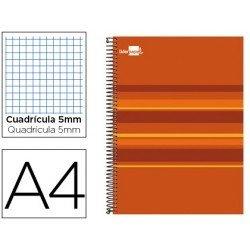 Bloc espiral Liderpapel serie Classic DIN-A4 tapa forrada naranja