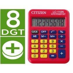 Calculadora bolsillo Citizen LC-110N rojo 8 digitos