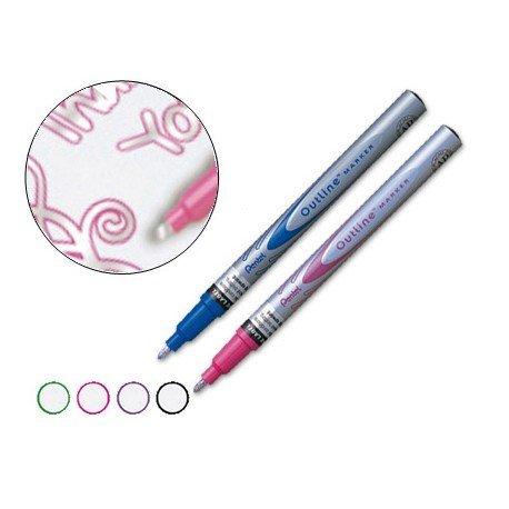 Rotulador Outline MSP 60 Pentel permanente doble color.