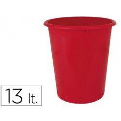 Papelera plastico Ensto Stand rojo 13 L