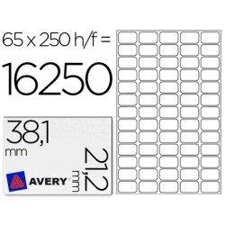 Etiqueta adhesiva Avery 38,1 x 21,2 mm