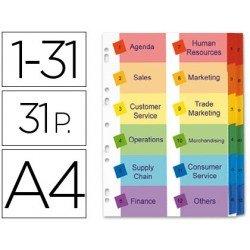 Separadores numerico Avery doble columna