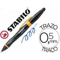 Boligrafo Stabilo Smartball negro y naranja 0,5 mm