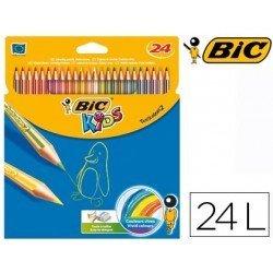 Lapices de colores Bic Tropicolors 24 unidades