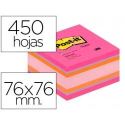 Cubo de notas adhesivas quita y pon post-it ®