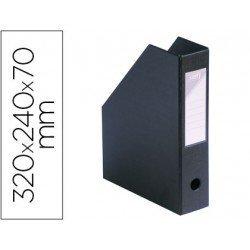 Revistero plastico Elba negro 32x24x7 cm ultra resistente
