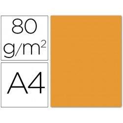 Papel color Liderpapel naranja A4 80g/m2 15 hojas
