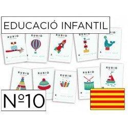 Cuaderno Rubio educacion infantil Nº 10 Catalan