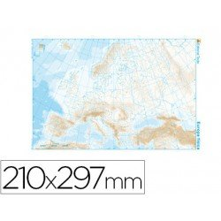 Mapa mudo Europa fisico blanco y negro