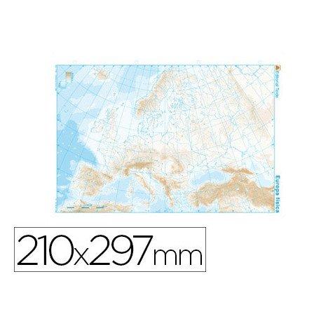 Mapa mudo Europa fisico blanco y negro 22166  20milproductos