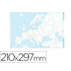 Mapa mudo Europa politico blanco y negro