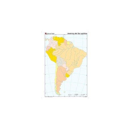 Mapa mudo America del Sur politico