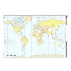 Mapa mudo Planisferio politico