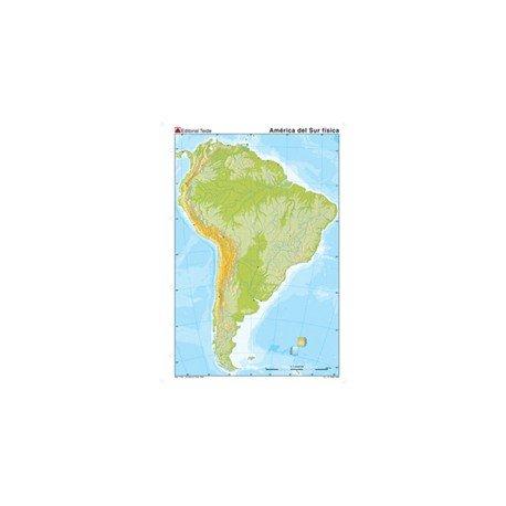 Mapa mudo America del Sur fisico