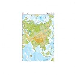 Mapa mudo Asia fisico