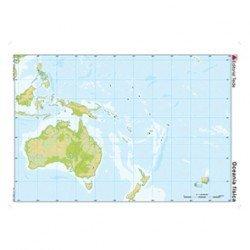 Mapa mudo Oceania fisico