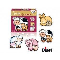 Puzzle a partir de 3 años Form Vaca marca Diset