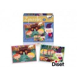 Puzzle a partir de 3 años Cuenta la casita de Chocolate Diset