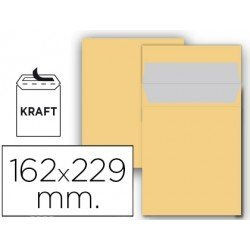 Sobre bolsa Liderpapel C5 Kraft Caja 25