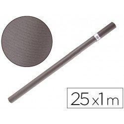 Bobina papel kraft Liderpapel 25 x 1 m gris ferro