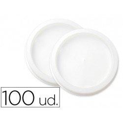 Tapa plastico plana para vaso