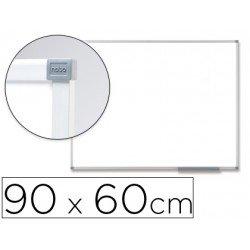 Pizarra Blanca Vitrificada Magnetica marco de aluminio 90x60 Nobo