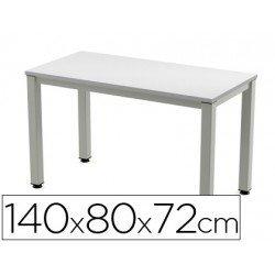 Mesa de oficina Rocada executive 2001ad02 aluminio /gris 140x80 cm