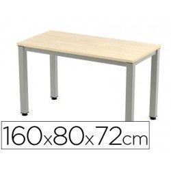 Mesa de oficina Rocada executive 2002ad01 aluminio /haya 160x80 cm