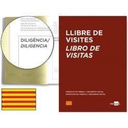 Libro Registro de visitas Liderpapel catalan y tamaño A4