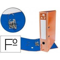 Archivador de palanca Liderpapel folio carton forrado rado naranja lomo 75mm