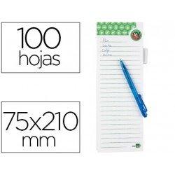 Bloc notas imantado Liderpapel lista de la compra con bolígrafo