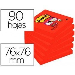 Post-it ® Bloc de 76 x 76 mm color rojo 90 hojas