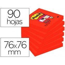 Bloc de Post-it ® 76 x 76 mm color rojo 90 hojas
