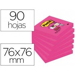 Post-it ® Bloc de 76 x 76 mm color rosa 90 hojas
