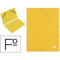 Carpeta gomas Liderpapel Folio amarilla