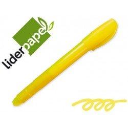 Marcador de cera gel Liderpapel amarillo