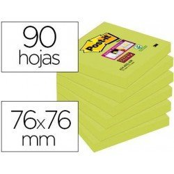 Post-it ® Bloc de 76 x 76 mm color verde 90 hojas